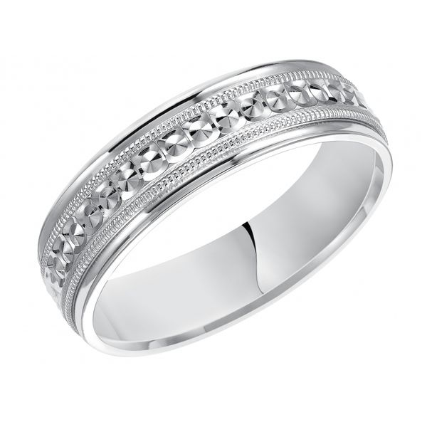 Platinum Textured Wedding Band Martin Busch Inc. New York, NY