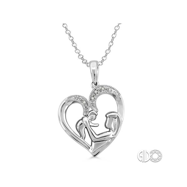 Sterling Silver Diamond Mother/Child Heart Pendant Martin Busch Inc. New York, NY