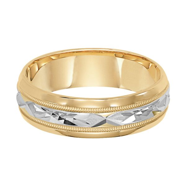 Men's Two-Tone Textued Wedding Band Martin Busch Inc. New York, NY