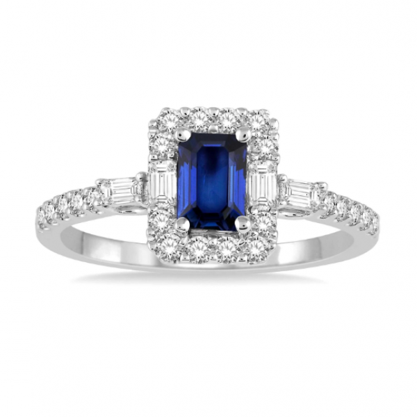 Diamond & Gemstone Ring Image 2  ,