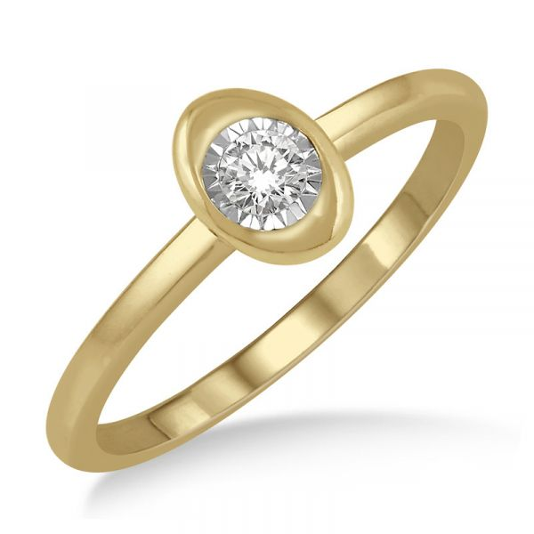 Yellow Gold Diamond Promise Ring Martin Busch Inc. New York, NY
