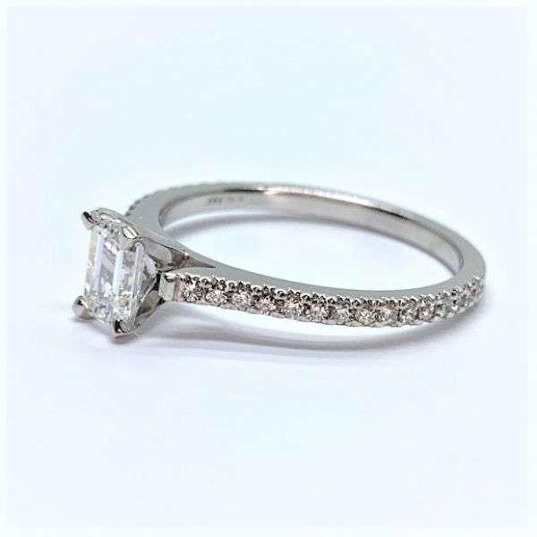 Emerald Cut Diamond Engagement Ring Image 2 Martin Busch Inc. New York, NY