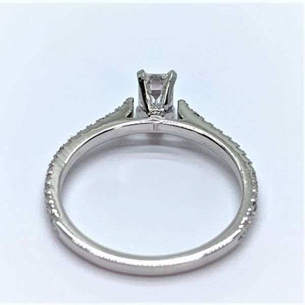 Emerald Cut Diamond Engagement Ring Image 3 Martin Busch Inc. New York, NY