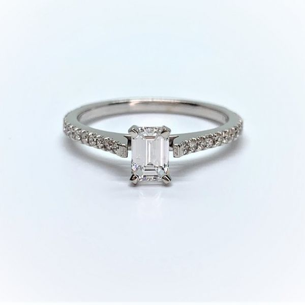 Emerald Cut Diamond Engagement Ring Martin Busch Inc. New York, NY