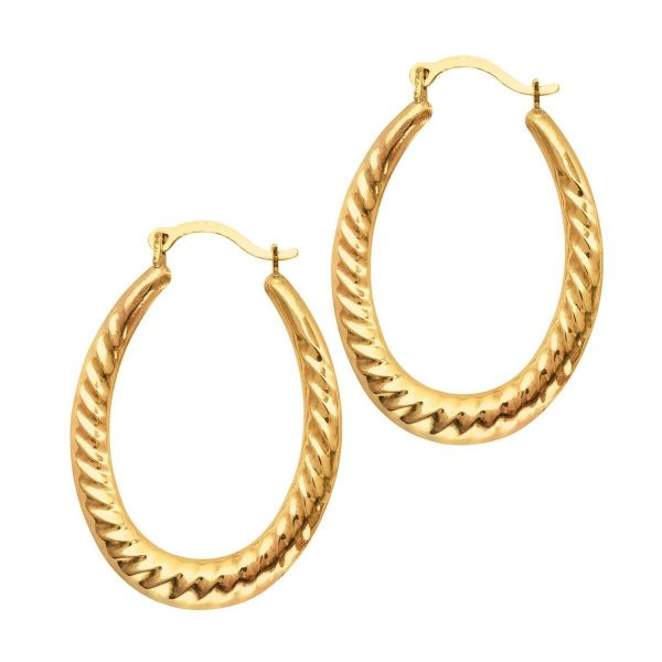 Oval Hoop Earrings Martin Busch Inc. New York, NY