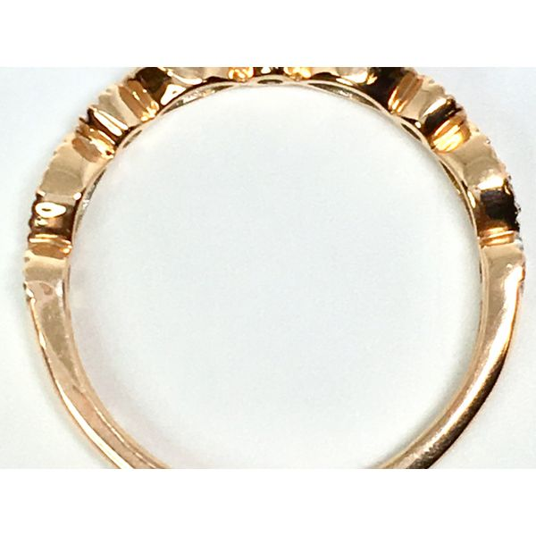 Rose Gold Diamond Stackable Band Image 2  ,
