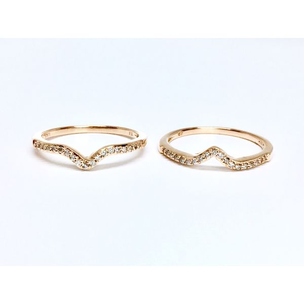 Rose Gold Curved Stackable Band Image 4 Martin Busch Inc. New York, NY