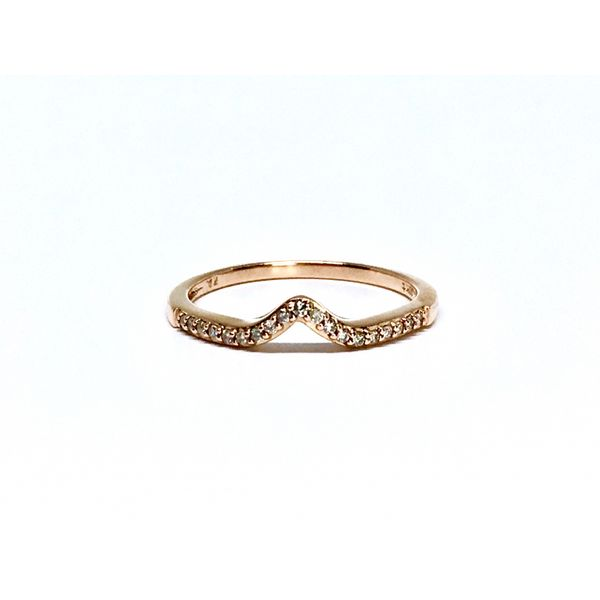 Rose Gold Curved Stackable Band Martin Busch Inc. New York, NY