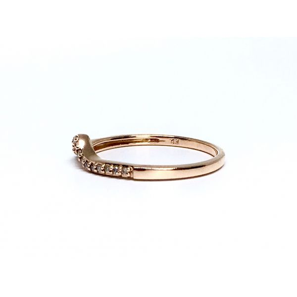 Rose Gold Curved Stackable Band Image 2 Martin Busch Inc. New York, NY