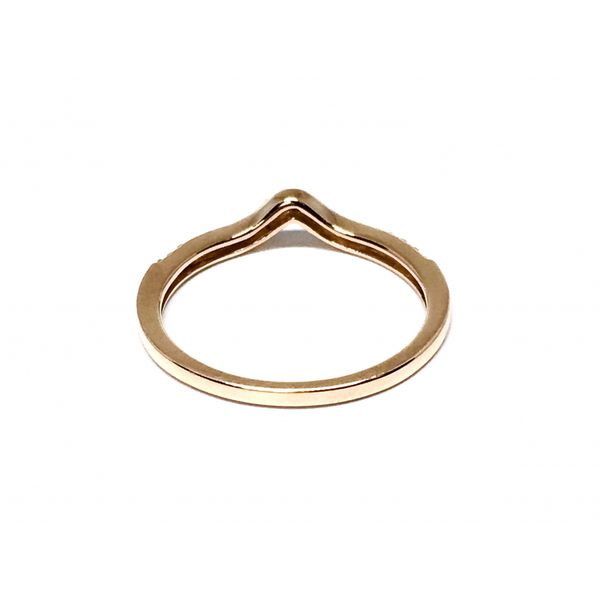 Rose Gold Curved Stackable Band Image 3 Martin Busch Inc. New York, NY