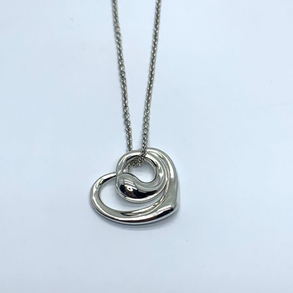 e12035b9162 Tiffany and Co. Sterling Silver Elsa Peretti Heart Pendant thumb image 1