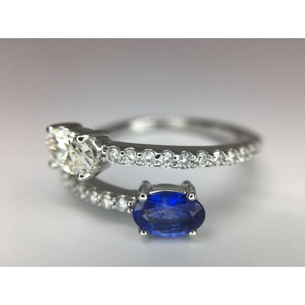 Sapphire and Diamond Bypass Ring Image 2 Martin Busch Inc. New York, NY