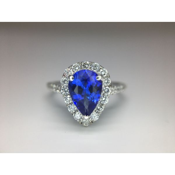 Fashion Tanzanite Ring with Diamonds Image 2  ,