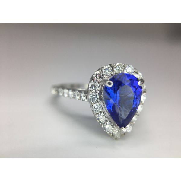 Fashion Tanzanite Ring with Diamonds Image 3  ,