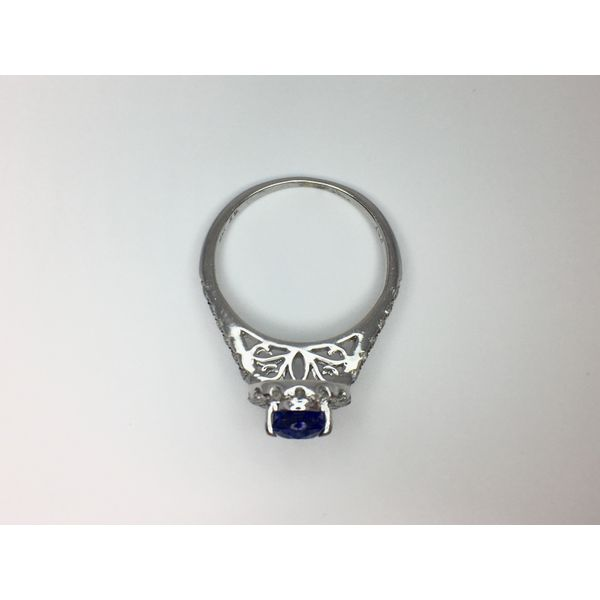 Fashion Tanzanite Ring with Diamonds Image 5  ,