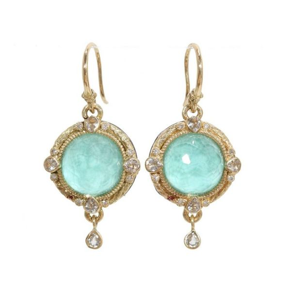 Armenta Green Turquoise Diamond Earrings 3320 Earrings