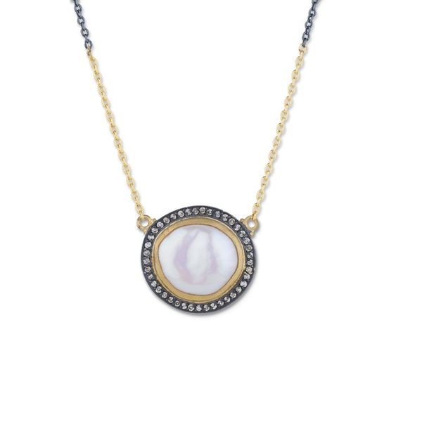 MABE PEARL AND DIAMOND NECKLACE Mystique Jewelers Alexandria, VA