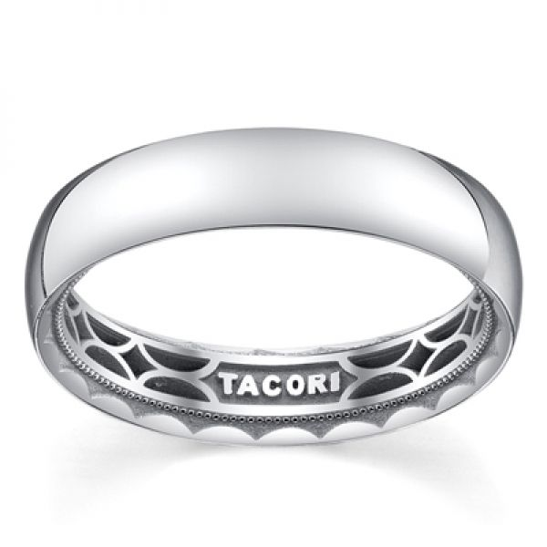 Tacori Sculpted Crescent Collection | Men's White Gold Polished Band | Style No. 001-760-02175