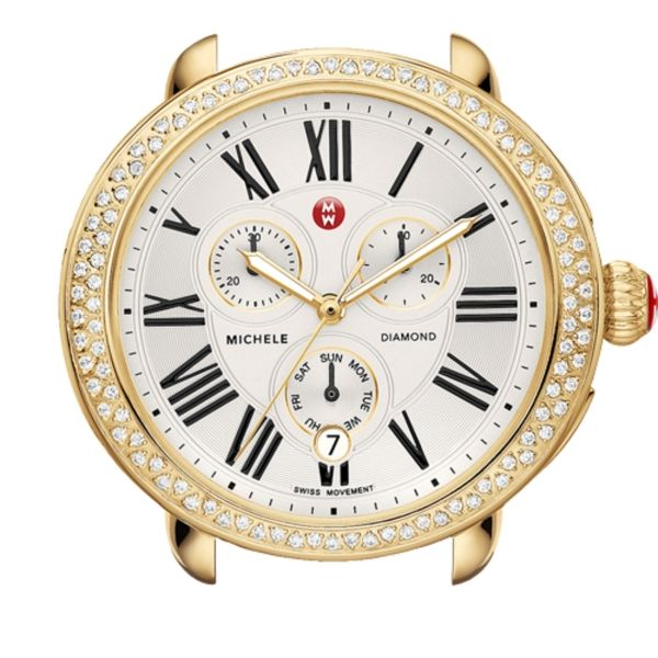 Michele Serein Collection | Yellow Gold Plated Watch with Mother of Pearl Dial | Style No 001-608-03032