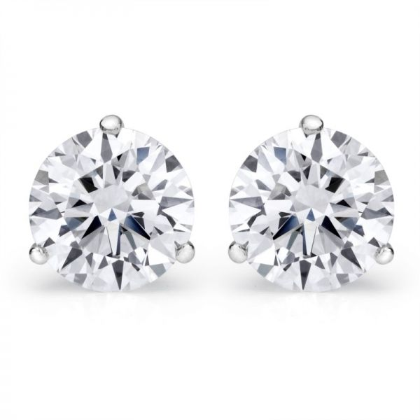 0.97 Cttw. 14KW Diamond Earrings Padis Jewelry San Francisco, CA