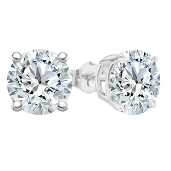 0.94 Cttw. 14KW Diamond Earrings Padis Jewelry San Francisco, CA