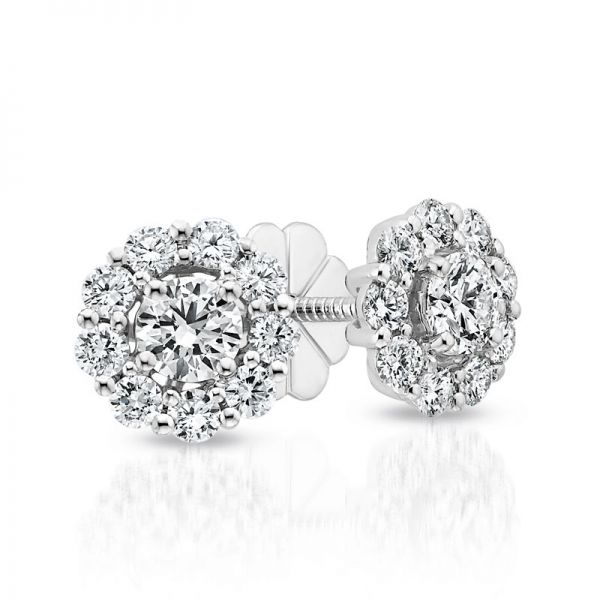 Forevermark Halo Diamond Earrings Padis Jewelry San Francisco, CA