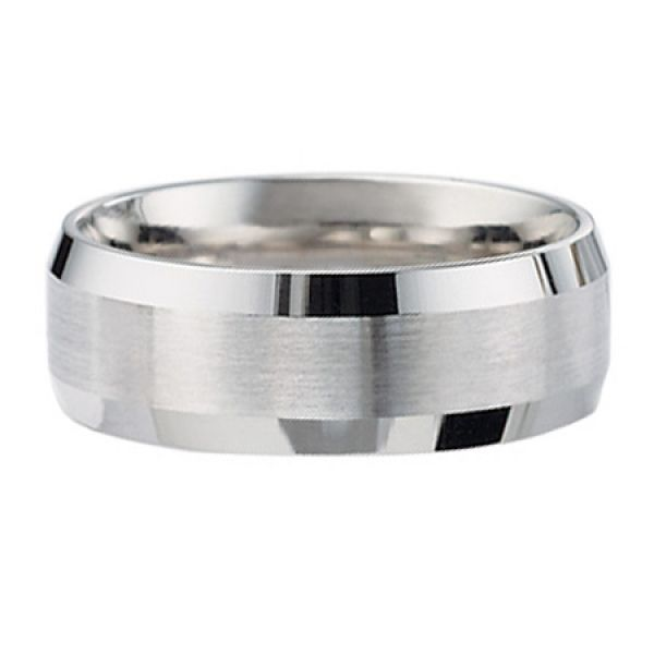 Benchmark | Palladium Beveled Edge Satin Finish Ring | Style No. 001-709-01357 CF68416