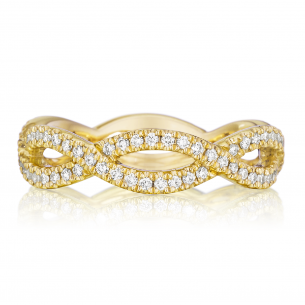 Henri Daussi | 14K Yellow Gold Diamond Ring | Style No. 001-656-00246