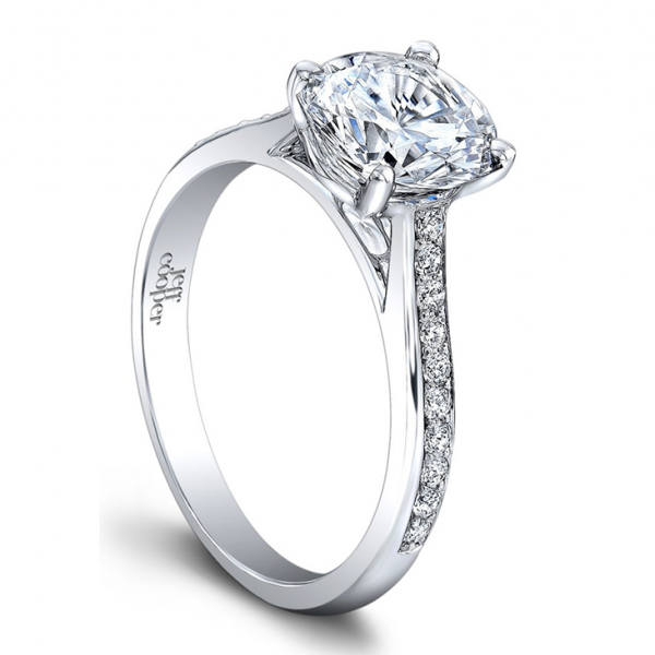 14K White Gold Petite Diamond Engagement Ring RP3326/R6.5C14