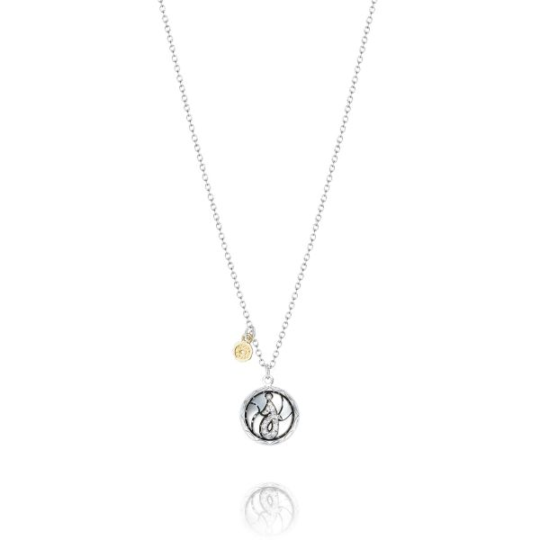 Tacori Love Letters Collection | Sterling Silver Pavéé Diamond J Initial Pendant | Style No. 001-761-01066 SN19