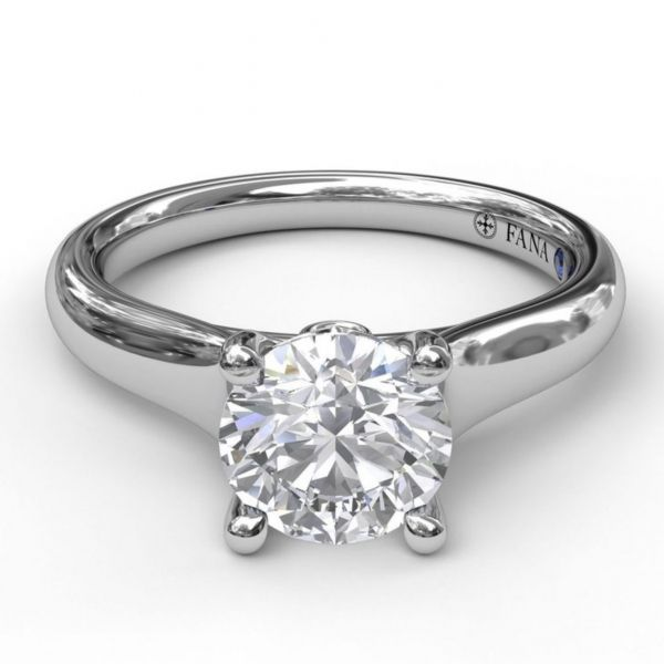 Designer Solitaire Engagement Ring Image 3  ,