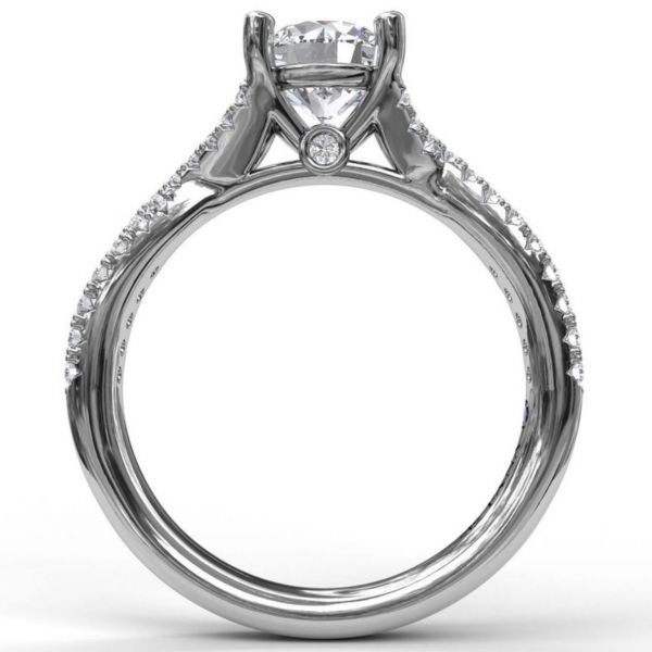 Delicate Late Twist Diamond Engagement Ring Image 2 Parris Jewelers Hattiesburg, MS