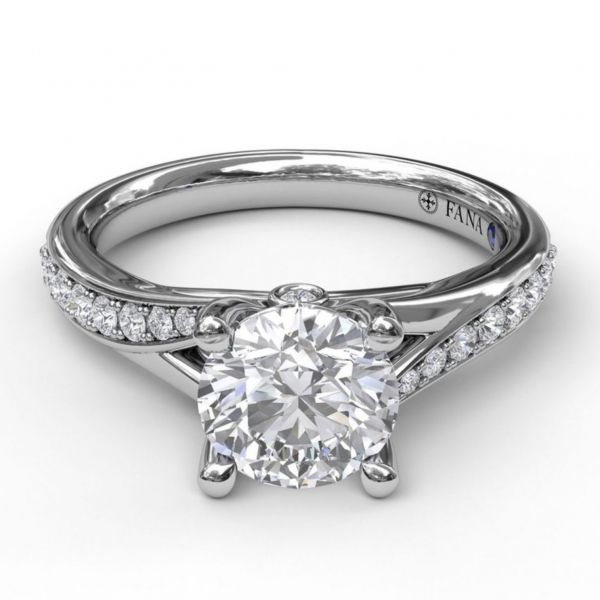 Designer Split Band Engagement Ring Image 3 Parris Jewelers Hattiesburg, MS