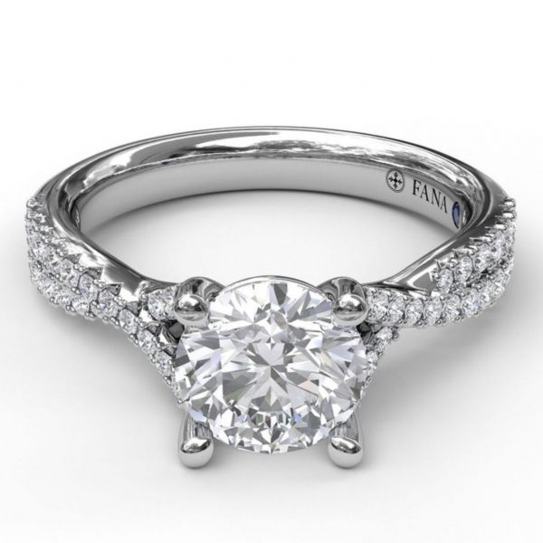 Delicate Late Twist Diamond Engagement Ring Image 3 Parris Jewelers Hattiesburg, MS