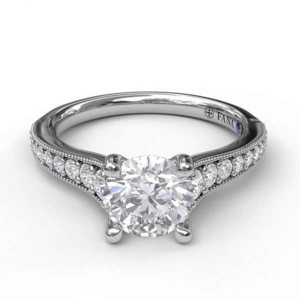 Solitaire with Graduated Diamond Band Image 3 Parris Jewelers Hattiesburg, MS