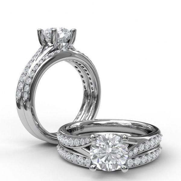 Designer Split Band Engagement Ring Image 4 Parris Jewelers Hattiesburg, MS