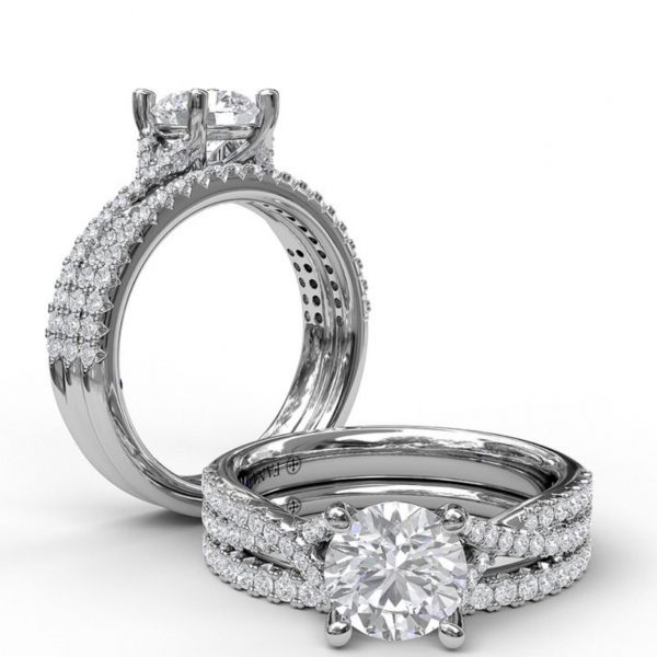 Delicate Late Twist Diamond Engagement Ring Image 4 Parris Jewelers Hattiesburg, MS