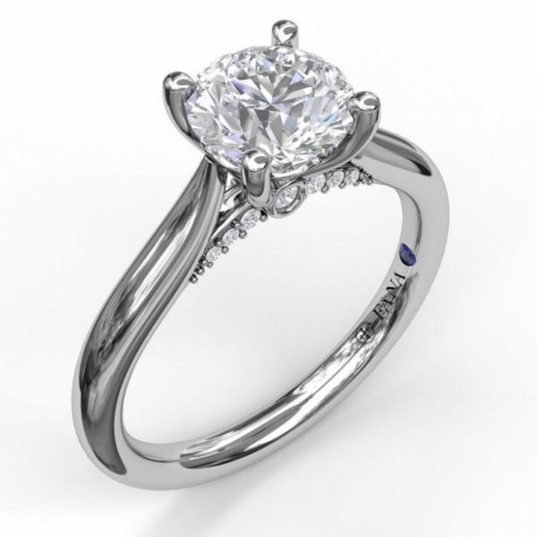 Round Cut Solitaire with Decorated Bridge Parris Jewelers Hattiesburg, MS