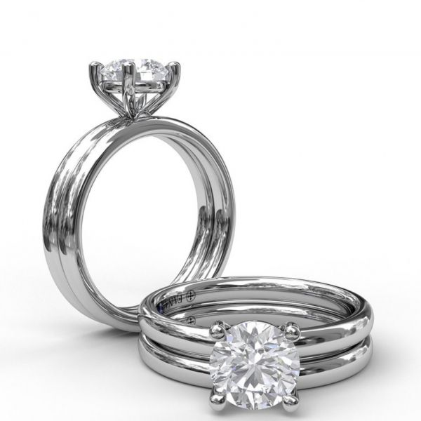 Classic Round Cut Solitaire Engagement Ring Image 4  ,