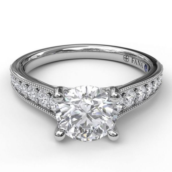 Round Cut Solitaire with Tapered Band Image 3 Parris Jewelers Hattiesburg, MS