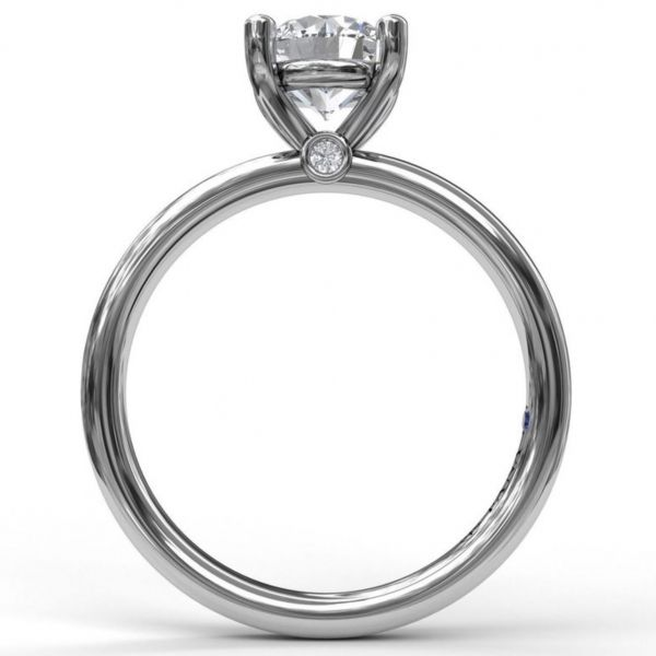 Classic Round Cut Solitaire Engagement Ring Image 2  ,