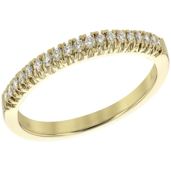 14 kt gold and diamond band Image 3  ,