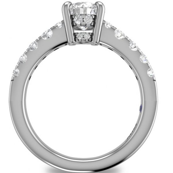 Single Row Designer Engagement Ring Image 2  ,