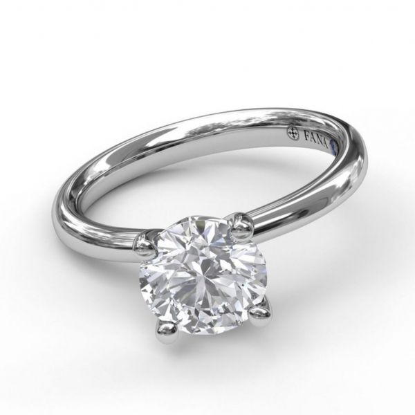 Timeless Round Cut Solitaire Engagement Ring Image 3  ,