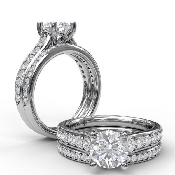 Classic Single Row Diamond Engagement Ring Image 4 Parris Jewelers Hattiesburg, MS