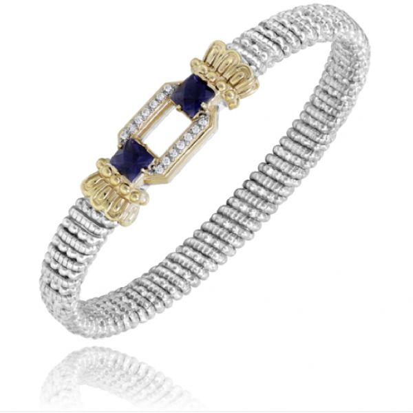 Sterling  Silver and 14k Gold with Diamonds Image 3  ,