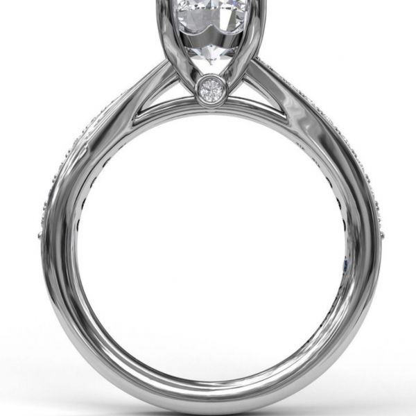 Designer Split Band Engagement Ring Image 2 Parris Jewelers Hattiesburg, MS
