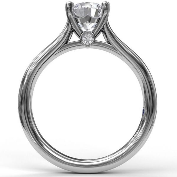 Designer Solitaire Engagement Ring Image 2  ,