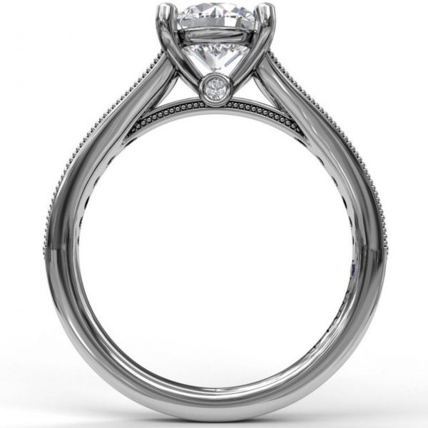 Round Cut Solitaire with Tapered Band Image 2 Parris Jewelers Hattiesburg, MS