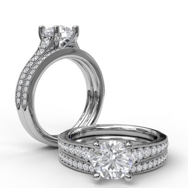 Solitaire with Graduated Diamond Band Image 4 Parris Jewelers Hattiesburg, MS